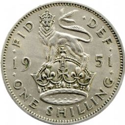 English Shilling George VI For sale